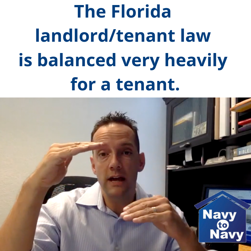 Mario Gonzalez Florida Tenant Law Navy to Navy
