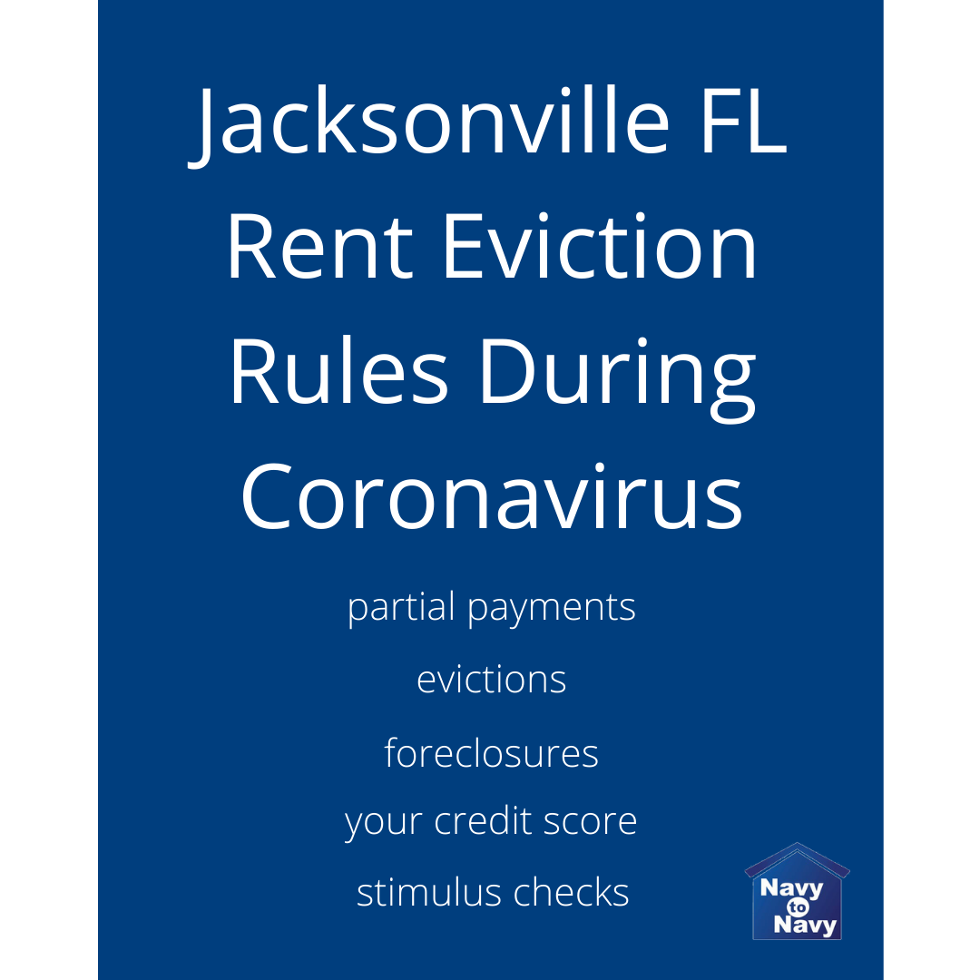 Jacksonville FL Rent Eviction Rules During Coronavirus