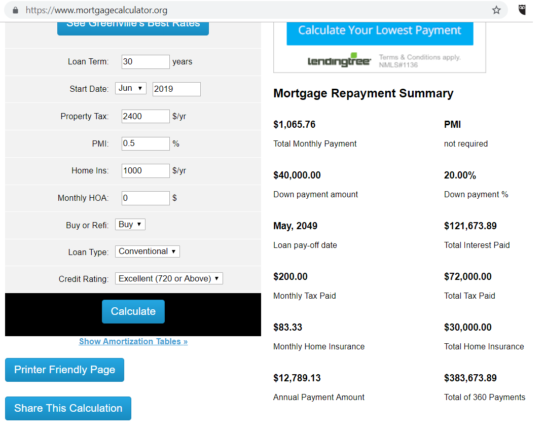 mortgage calculator - make money on rental house - navy to navy homes